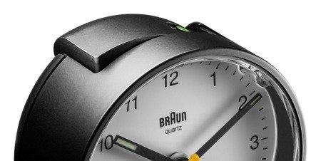 Budzik BRAUN podświetlenie drzemka 7 cm BC01BW