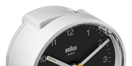 Budzik BRAUN podświetlenie drzemka 7 cm BC01WB