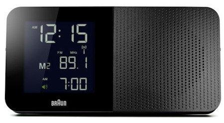 Budzik BRAUN podświetlenie drzemka alarm narastający BNC010BK-SRC