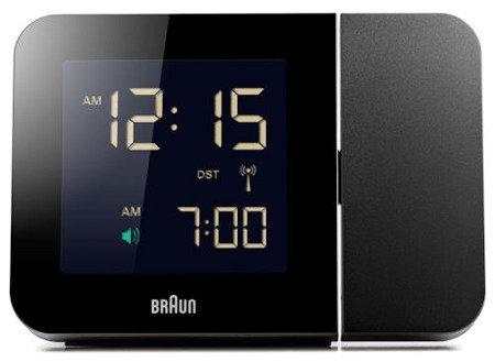Budzik BRAUN sterowany radiowo projektor BNC015BK-RC