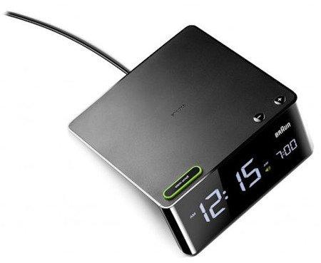 Budzik BRAUN wyświetlacz LCD nowoczesny BNC016BK