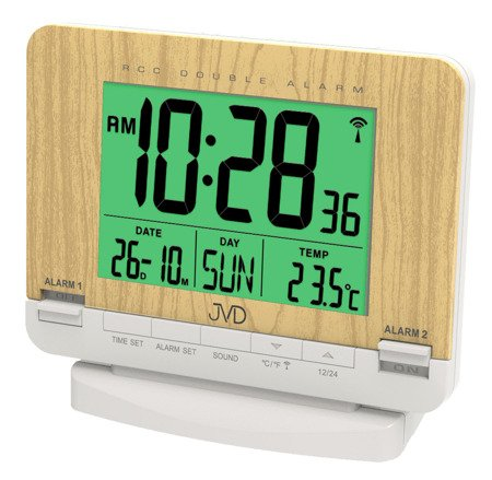 Budzik JVD STEROWANY RADIOWO 2 alarmy drzemka RB9242.1