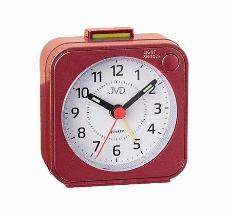 Budzik JVD biurkowy czerwony NEOBRITE 6 cm SR623.1