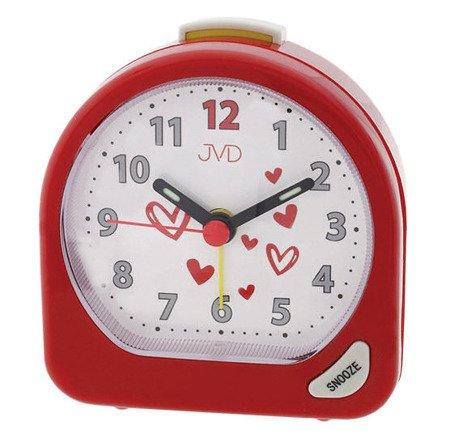 Budzik JVD dziecięcy biurkowy czerwony SR672.3
