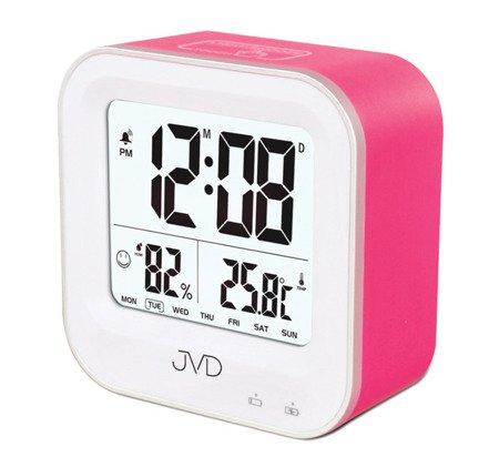 Budzik JVD termometr AKUMULATOR higrometr SB9909.2