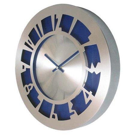 SUPER zegar ścienny ALUMINIUM niebieski AL2035BL