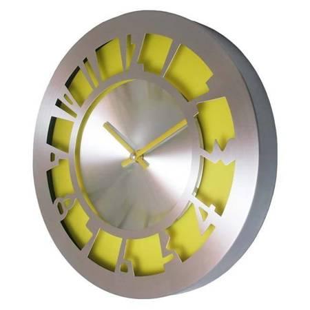 SUPER zegar ścienny ALUMINIUM żółty AL2035Y SW