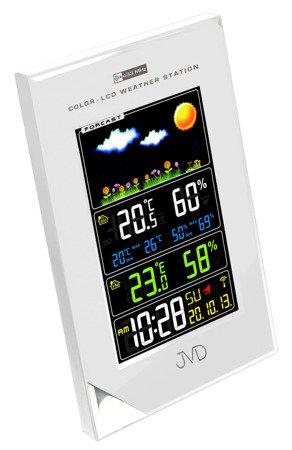 Stacja pogody JVD KOLOROWA DCF77 12x19cm RB9202.2