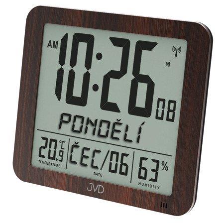 ZEGAR BUDZIK JVD DUŻY 25 cm, sterowany radiowo termometr higrometr DH9335.2