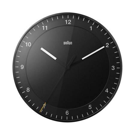 Zegar Braun ścienny czarny CICHY 30 cm BC17B