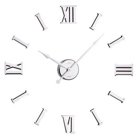 Zegar JVD DIY ścienny naklejany DIY 80 cm srebrny HB15