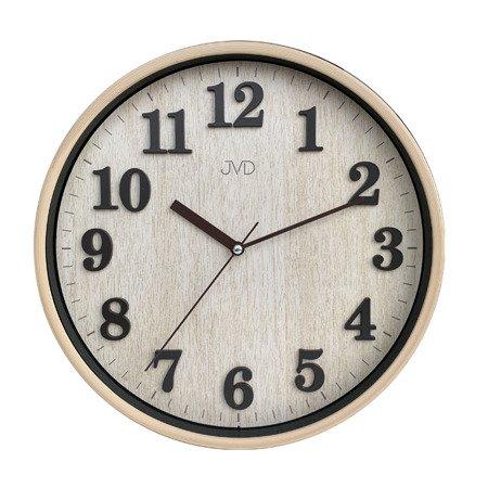 Zegar JVD ścienny 29,5 cm CYFRY 3D CICHY nowoczesny HA50.1
