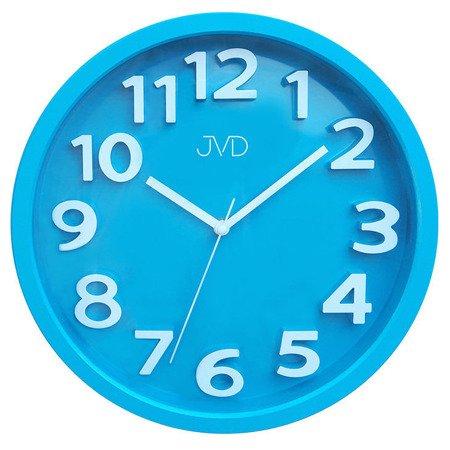 Zegar JVD ścienny 33 cm dziecięcy CYFRY 3D CICHY nowoczesny HA48.4