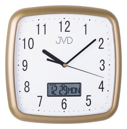 Zegar JVD ścienny CICHY DATOWNIK DH615.3