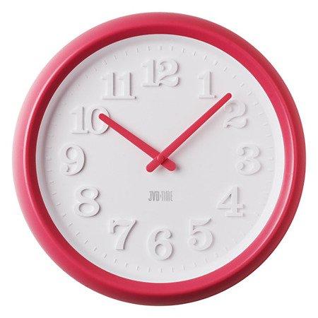 Zegar JVD ścienny CICHY MECHAN różówy 38 cm H102.3