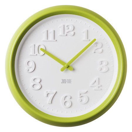Zegar JVD ścienny CICHY MECHAN zielony38 cm H102.1