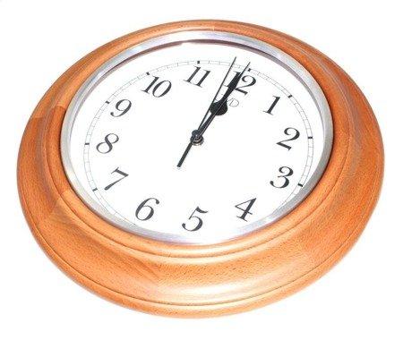 Zegar JVD ścienny CICHY drewniany  NS27043.41