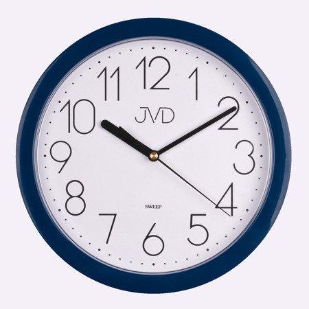 Zegar JVD ścienny CICHY niebieski 25 cm HP612.17