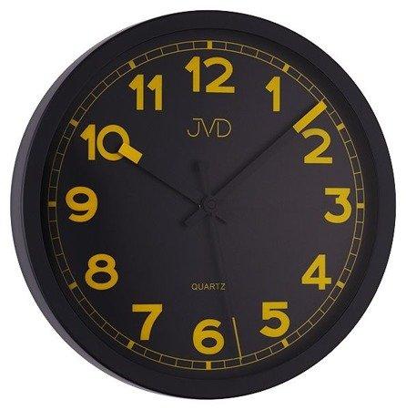 Zegar JVD ścienny CICHY nowoczesny METAL HA12.1