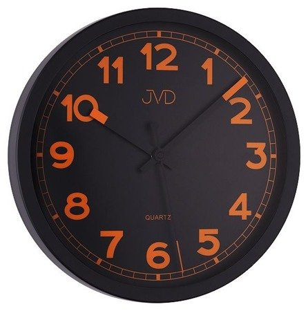 Zegar JVD ścienny CICHY nowoczesny METAL HA12.3
