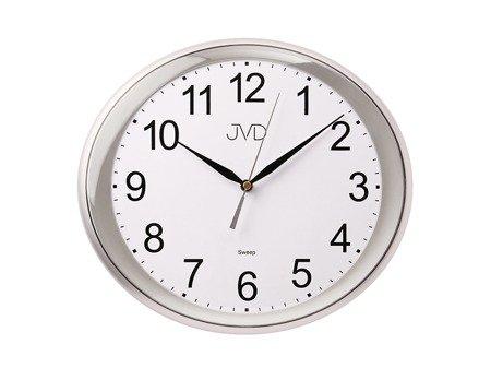 Zegar JVD ścienny CICHY szary HP664.6