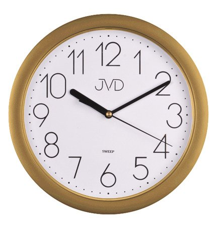 Zegar JVD ścienny CICHY złoty 25 cm HP612.26