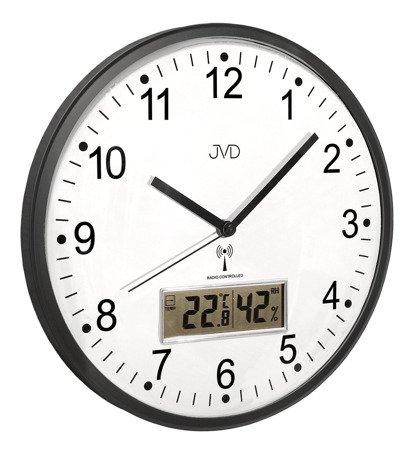 Zegar JVD ścienny DCF77 temp. wilgot. 30 cm RH78.2