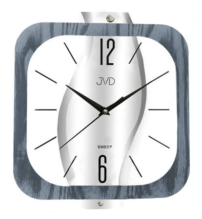 Zegar JVD ścienny DRENO-SZKŁO szary 30 cm NS19035.1