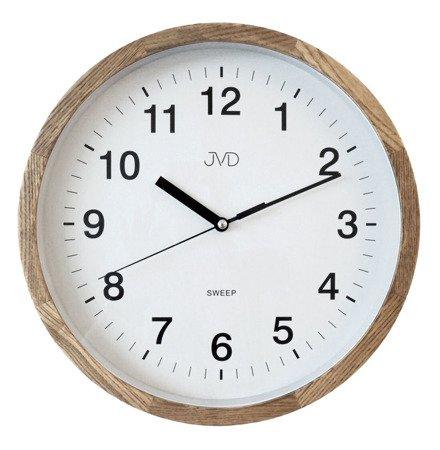 Zegar JVD ścienny DREWNIANY 30 cm NS19019.78