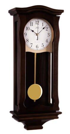 Zegar JVD ścienny DREWNO DCF77 kuranty NR2219.23