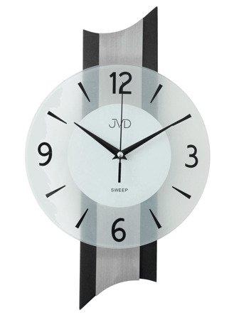 Zegar JVD ścienny DREWNO szkło 40 cm NS19034.2