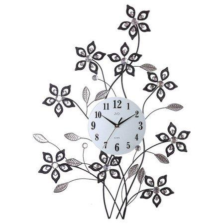Zegar JVD ścienny DUŻY 60 x 82 cm KWIATY kryształy HJ95