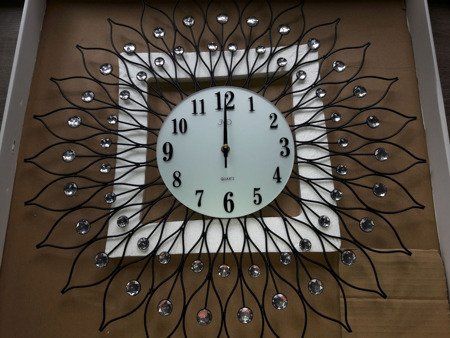 Zegar JVD ścienny DUŻY 61,5 cm KRYSZTAŁY HJ90-A2