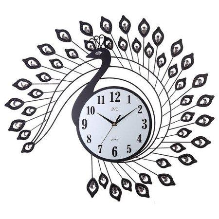 Zegar JVD ścienny PAW kryształki stal duży nowy design HJ88
