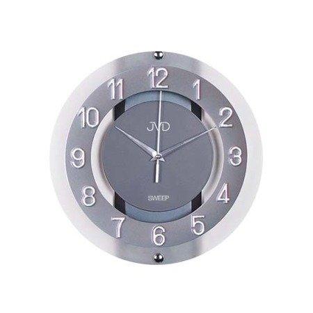Zegar JVD ścienny STAL szkło 28 cm NS2534.2