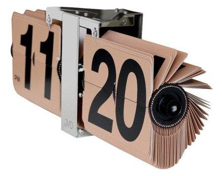 Zegar JVD ścienny STOJĄCY 36 cm KLAPKOWY HF18.2