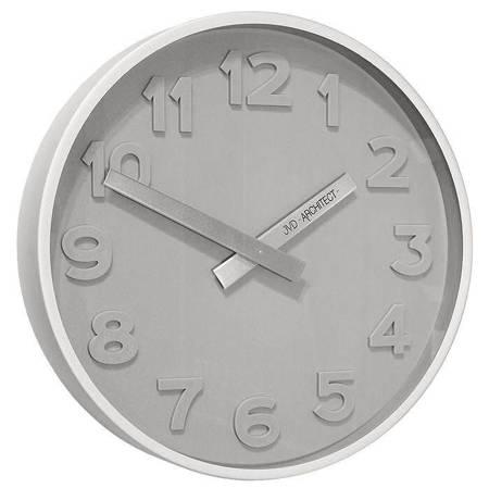 Zegar JVD ścienny SZARY nowoczesny METAL HC13.1