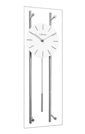 Zegar JVD ścienny SZKŁO I METAL duży 56 cm LCT3010