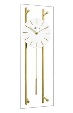 Zegar JVD ścienny SZKŁO złoty duży 56 cm LCT3011