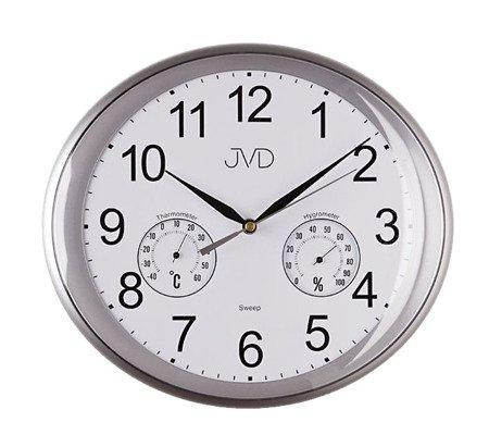 Zegar JVD ścienny TEMP. cichy 30 cm HTP64.2