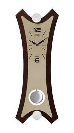 Zegar JVD ścienny Z WAHADŁEM szkło drewno N16010.2