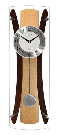 Zegar JVD ścienny Z WAHADŁEM szkło drewno N16022.68