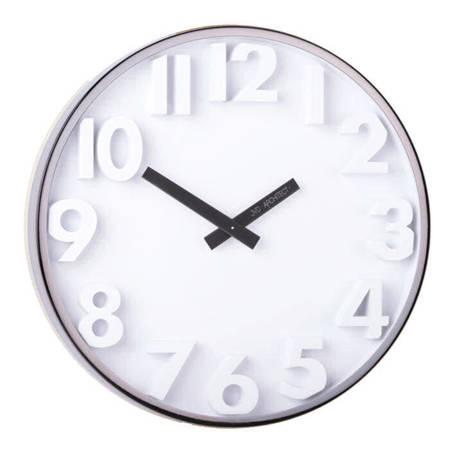 Zegar JVD ścienny ciemno szary METAL 30 cm HC03.2