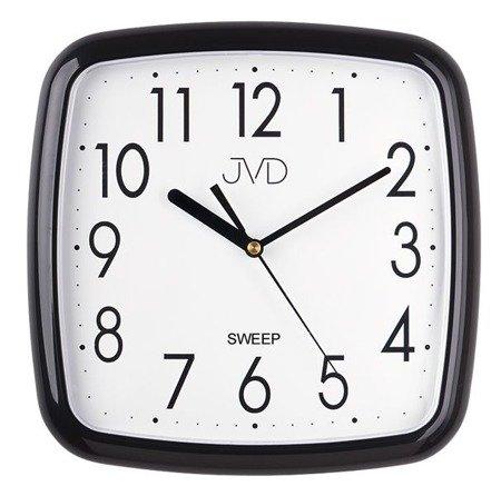 Zegar JVD ścienny czarny cichy 26 cm HP615.11