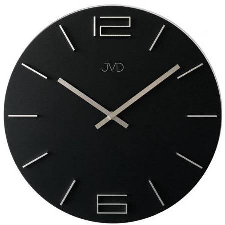 Zegar JVD ścienny czarny duży 35 cm HC29.3