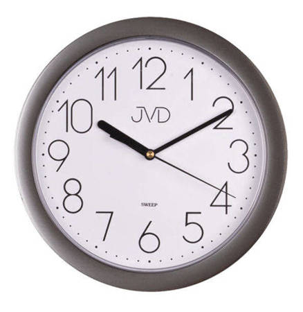 Zegar JVD ścienny czytelny szary CICHY HP612.25