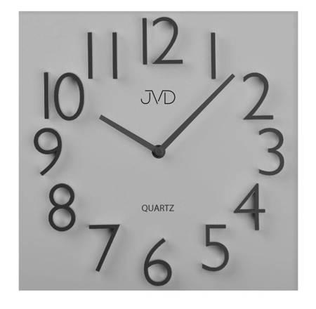Zegar JVD ścienny drewno-płyta MDF biały HB28