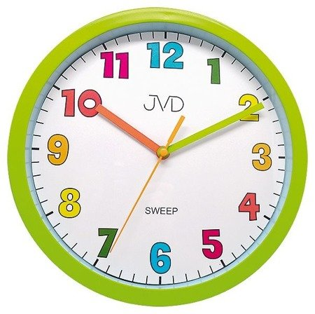 Zegar JVD ścienny dziecięcy 25 cm zielony HA46.4