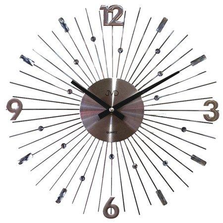 Zegar JVD ścienny kryształ grafitowy 30 cm HT107.3