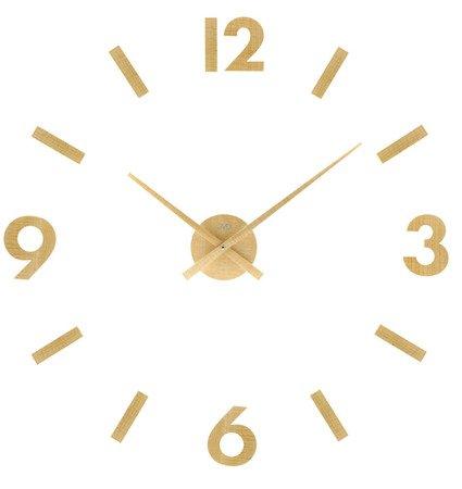 Zegar JVD ścienny naklejany DIY 80 cm DREWNO HC31.1